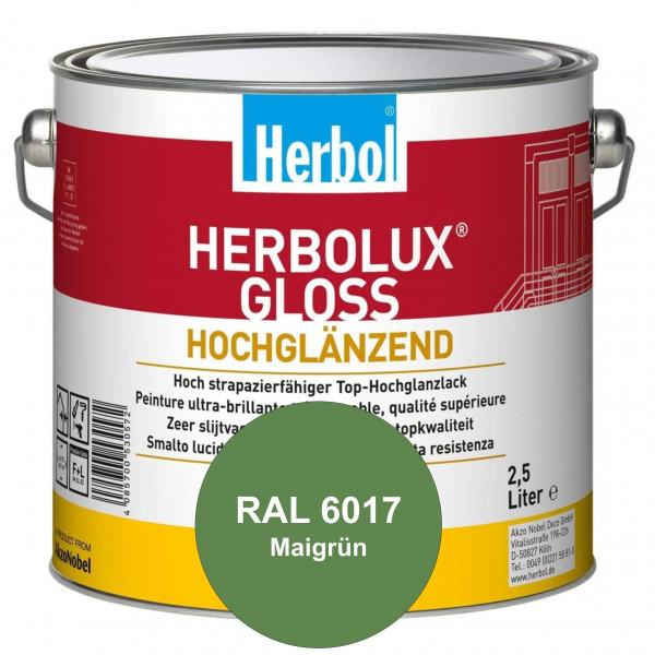 Herbolux Gloss (RAL 6017 Maigrün) strapazierfähiger Top-Hochglanzlack (lösemittelhaltig) für innen &