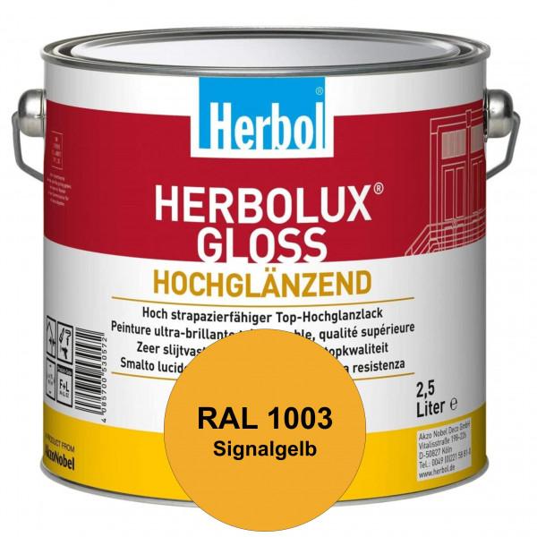 Herbolux Gloss (RAL 1003 Signalgelb) strapazierfähiger Top-Hochglanzlack (lösemittelhaltig) für inne