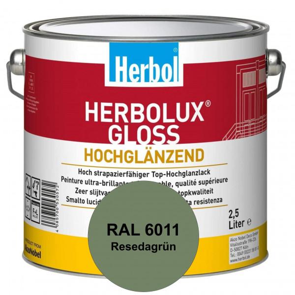 Herbolux Gloss (RAL 6011 Resedagrün) strapazierfähiger Top-Hochglanzlack (lösemittelhaltig) für inne