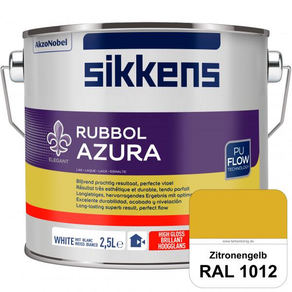 Rubbol Azura (RAL 1012 Zitronengelb) hochglänzender Lack (löselmittelhaltig) innen & außen