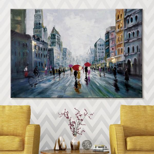 """Gemälde """"Stadtleben"""""""