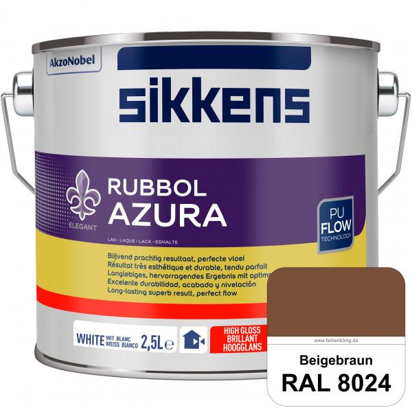 Rubbol Azura (RAL 8024 Beigebraun) hochglänzender Lack (löselmittelhaltig) innen & außen