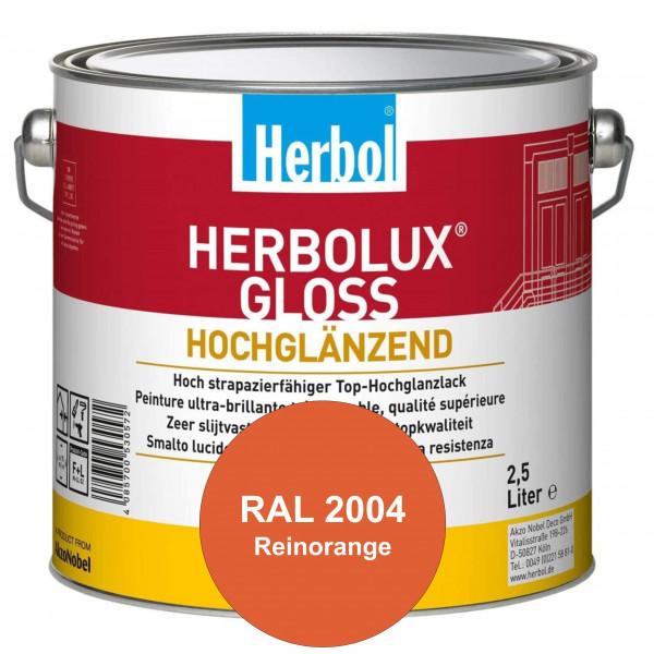 Herbolux Gloss (RAL 2004 Reinorange) strapazierfähiger Top-Hochglanzlack (lösemittelhaltig) für inne
