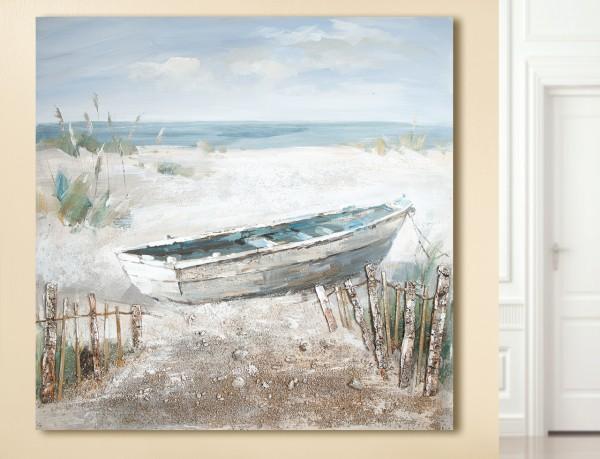 "Gemälde ""Boot am Strand"""