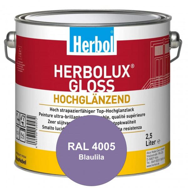 Herbolux Gloss (RAL 4005 Blaulila) strapazierfähiger Top-Hochglanzlack (lösemittelhaltig) für innen