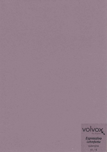 Volvox Espressivo Lehmfarbe - aubergine