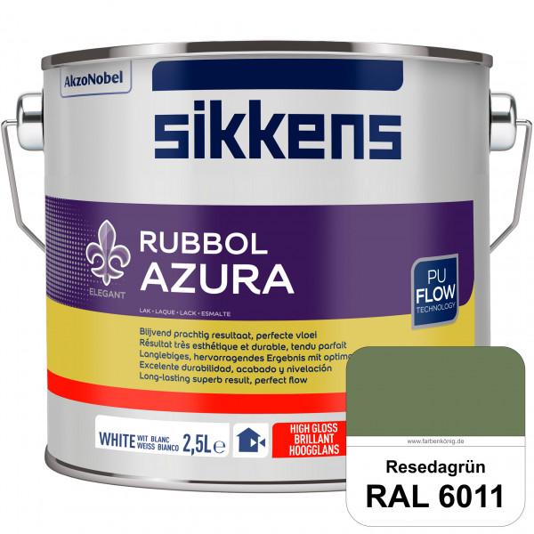 Rubbol Azura (RAL 6011 Resedagrün) hochglänzender Lack (löselmittelhaltig) innen & außen