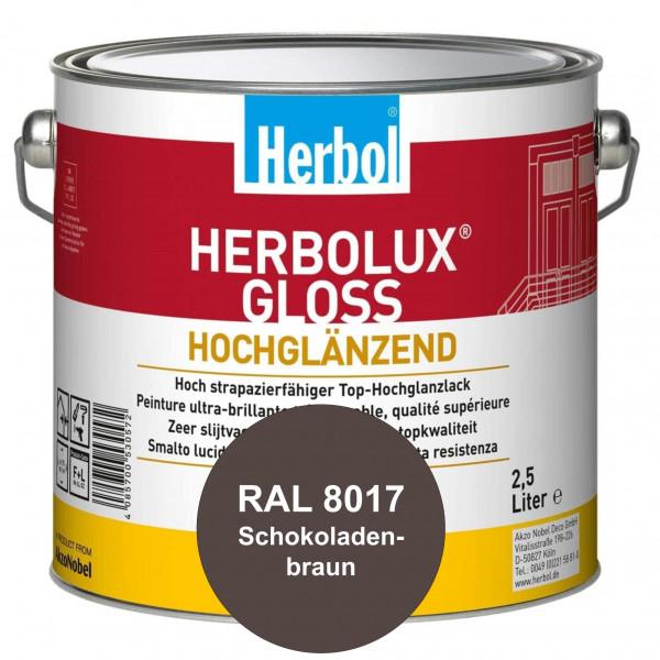 Herbolux Gloss (RAL 8017 Schokoladenbraun) strapazierfähiger Top-Hochglanzlack (lösemittelhaltig) fü