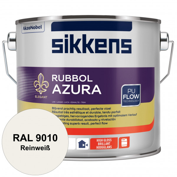 Rubbol Azura (RAL 9010 Reinweiß) hochglänzender Lack (löselmittelhaltig) innen & außen