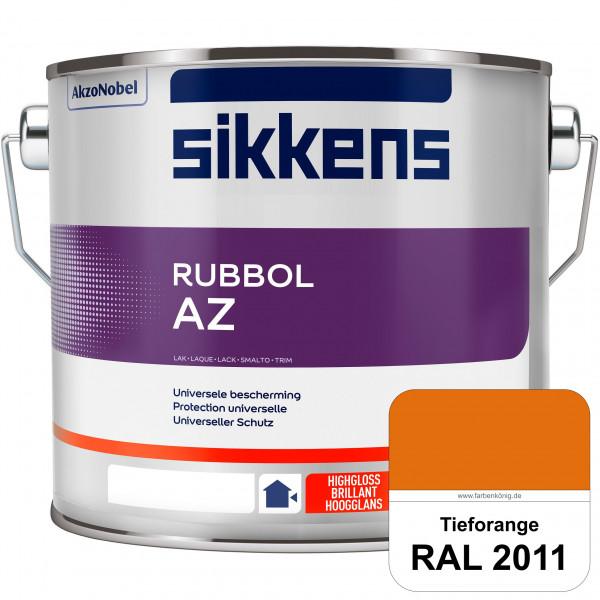 Rubbol AZ (RAL 2011 Tieforange) Hochwertiger, universeller Hochglanzlack (lösemittelhaltig) außen