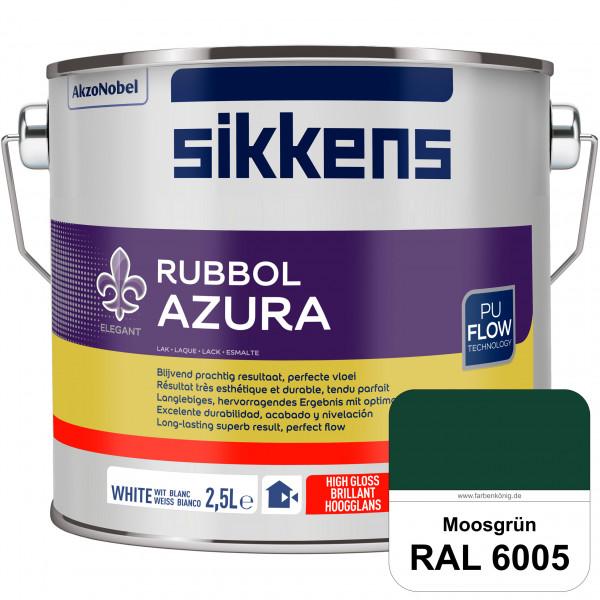 Rubbol Azura (RAL 6005 Moosgrün) hochglänzender Lack (löselmittelhaltig) innen & außen