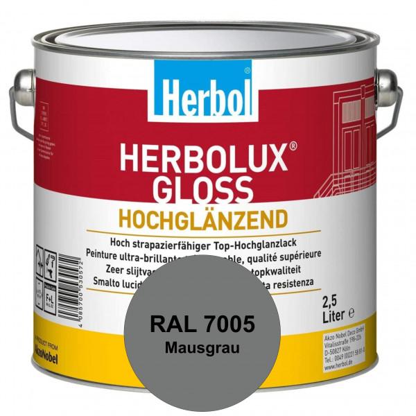 Herbolux Gloss (RAL 7005 Mausgrau) strapazierfähiger Top-Hochglanzlack (lösemittelhaltig) für innen