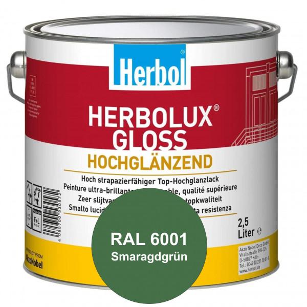Herbolux Gloss (RAL 6001 Smaragdgrün) strapazierfähiger Top-Hochglanzlack (lösemittelhaltig) für inn