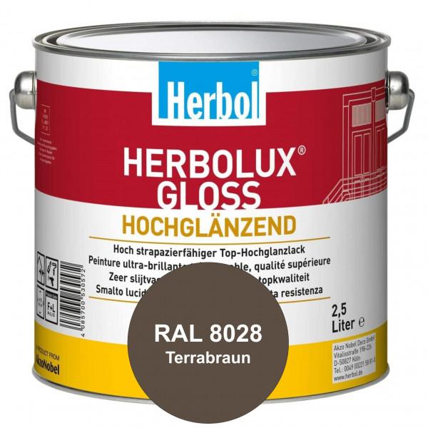 Herbolux Gloss (RAL 8028 Terrabraun) strapazierfähiger Top-Hochglanzlack (lösemittelhaltig) für inne