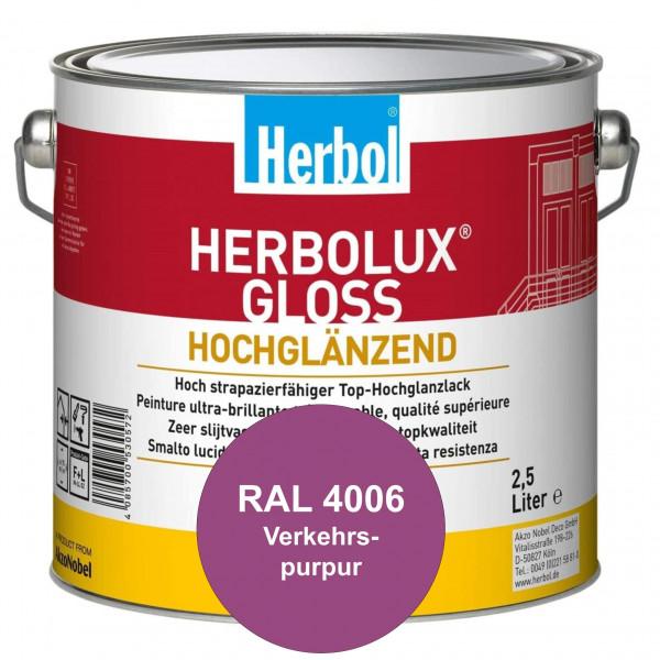 Herbolux Gloss (RAL 4006 Verkehrspurpur) strapazierfähiger Top-Hochglanzlack (lösemittelhaltig) für