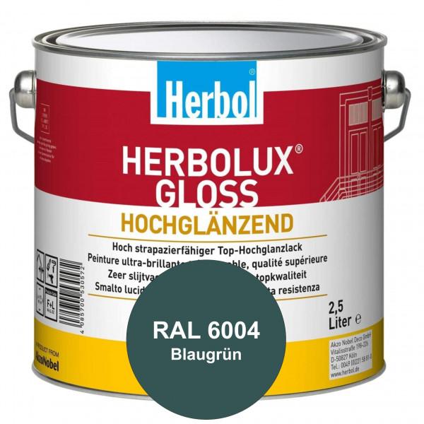Herbolux Gloss (RAL 6004 Blaugrün) strapazierfähiger Top-Hochglanzlack (lösemittelhaltig) für innen
