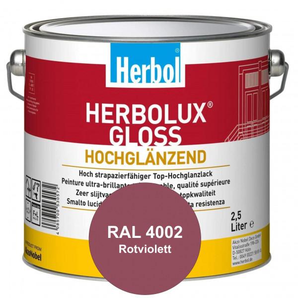 Herbolux Gloss (RAL 4002 Rotviolett) strapazierfähiger Top-Hochglanzlack (lösemittelhaltig) für inne