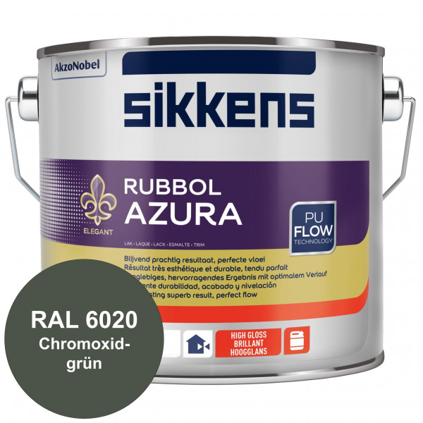 Rubbol Azura (RAL 6020 Chromoxidgrün) hochglänzender Lack (löselmittelhaltig) innen & außen