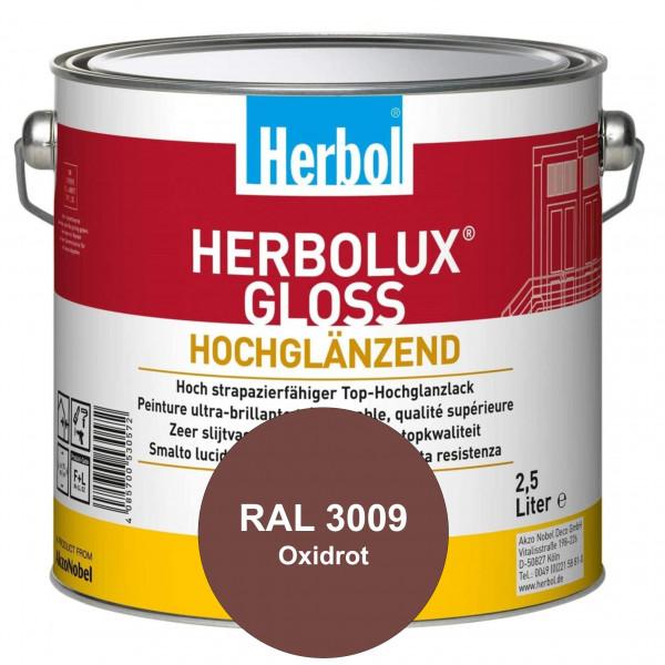 Herbolux Gloss (RAL 3009 Oxidrot) strapazierfähiger Top-Hochglanzlack (lösemittelhaltig) für innen &
