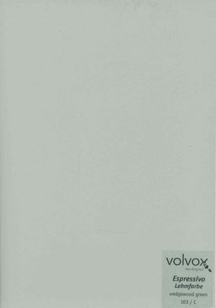 Volvox Espressivo Lehmfarbe - wedgewood green
