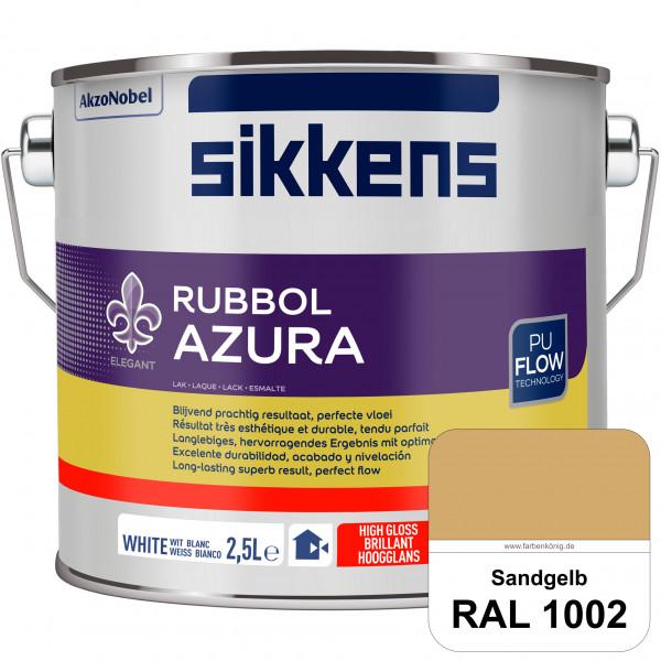 Rubbol Azura (RAL 1002 Sandgelb) hochglänzender Lack (löselmittelhaltig) innen & außen