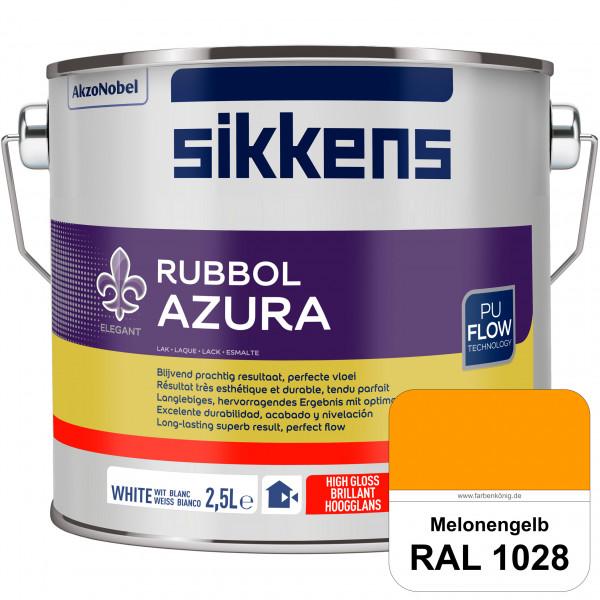 Rubbol Azura (RAL 1028 Melonengelb) hochglänzender Lack (löselmittelhaltig) innen & außen