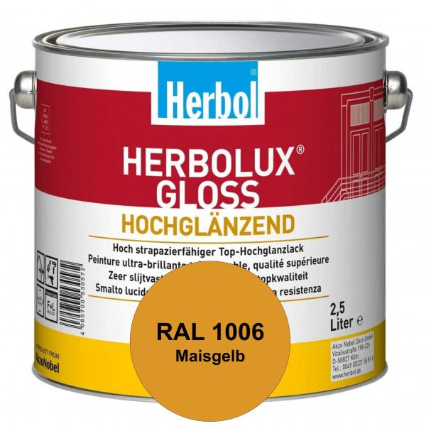 Herbolux Gloss (RAL 1006 Maisgelb) strapazierfähiger Top-Hochglanzlack (lösemittelhaltig) für innen