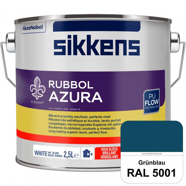 Rubbol Azura (RAL 5001 Grünblau) hochglänzender Lack (löselmittelhaltig) innen & außen