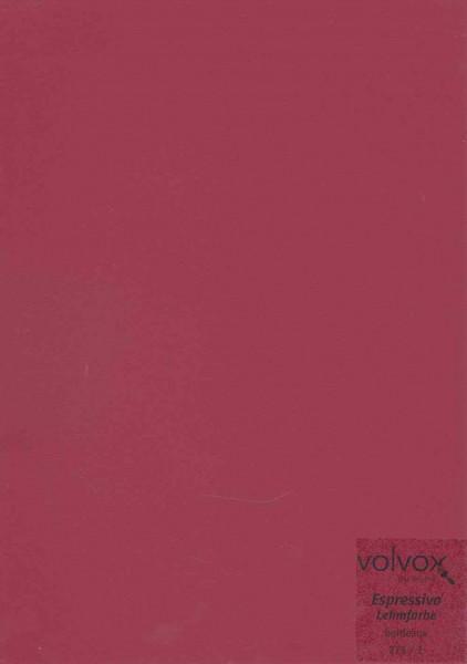 Volvox Espressivo Lehmfarbe - bordeaux