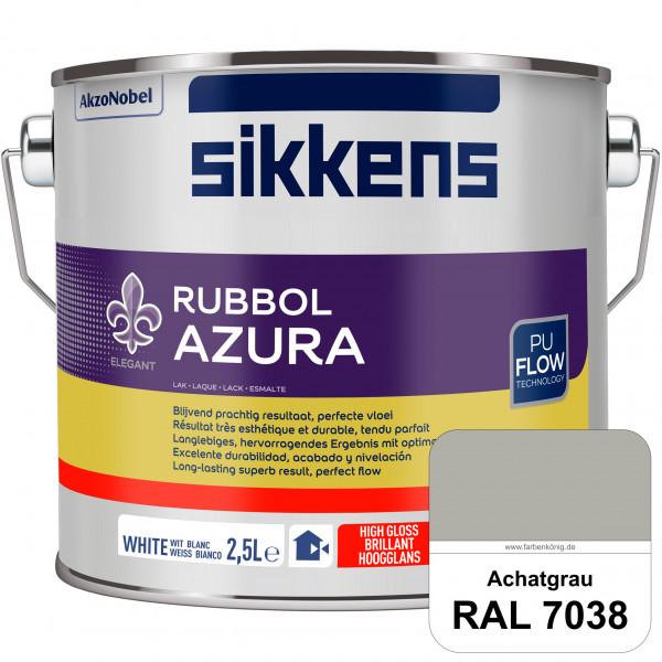 Rubbol Azura (RAL 7038 Achatgrau) hochglänzender Lack (löselmittelhaltig) innen & außen