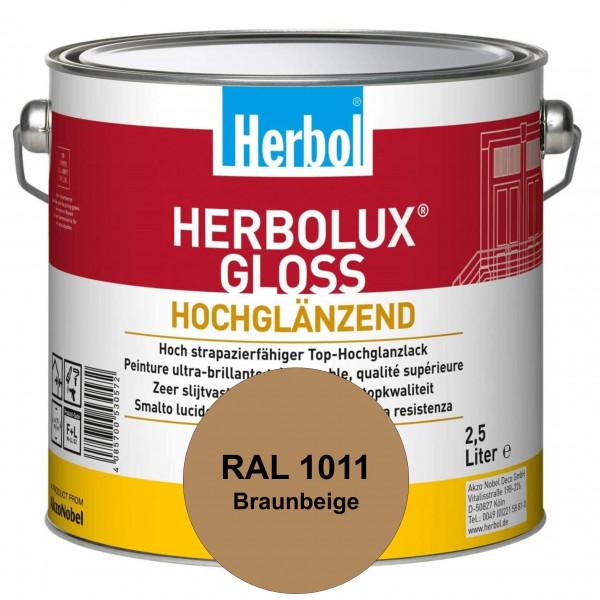 Herbolux Gloss (RAL 1011 Braunbeige) strapazierfähiger Top-Hochglanzlack (lösemittelhaltig) für inne