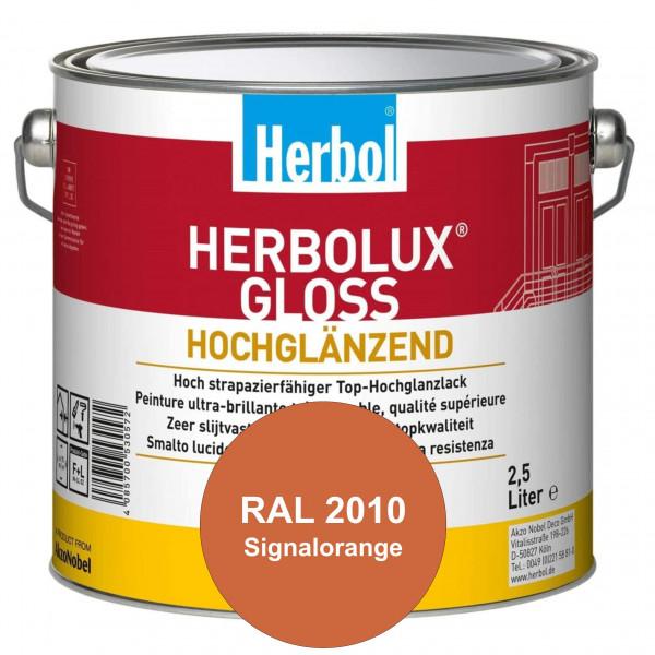 Herbolux Gloss (RAL 2010 Signalorange) strapazierfähiger Top-Hochglanzlack (lösemittelhaltig) für in