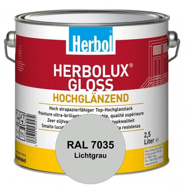 Herbolux Gloss (RAL 7035 Lichtgrau) strapazierfähiger Top-Hochglanzlack (lösemittelhaltig) für innen
