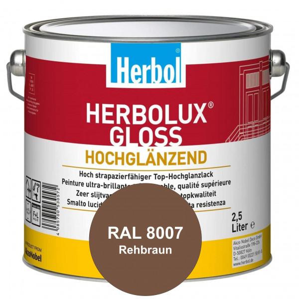 Herbolux Gloss (RAL 8007 Rehbraun) strapazierfähiger Top-Hochglanzlack (lösemittelhaltig) für innen