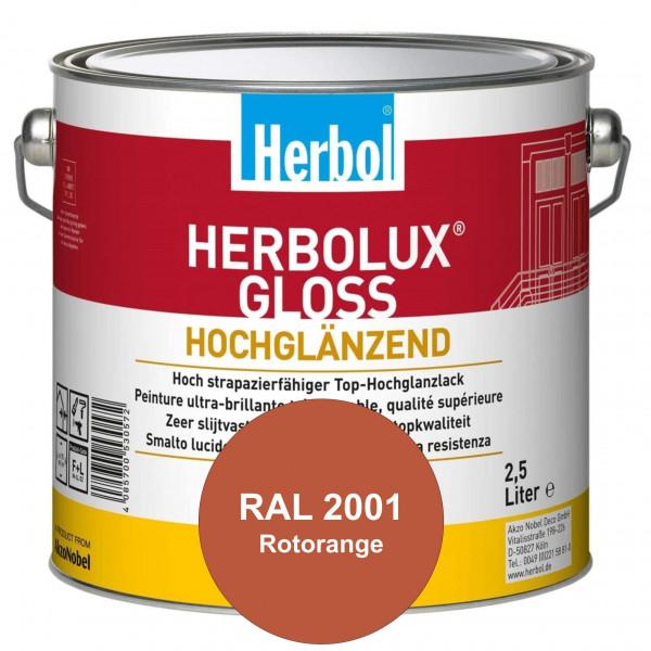 Herbolux Gloss (RAL 2001 Rotorange) strapazierfähiger Top-Hochglanzlack (lösemittelhaltig) für innen