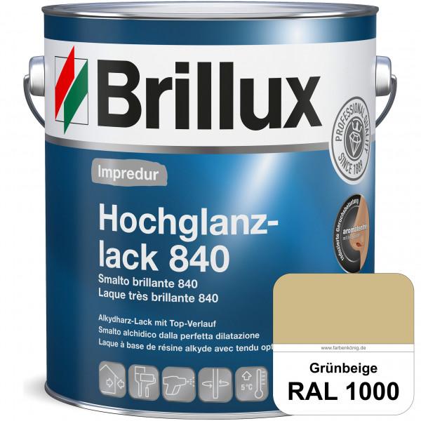Impredur Hochglanzlack 840 (RAL 1000 Grünbeige) für Holz- und Metallflächen (löselmittelhaltig) inne