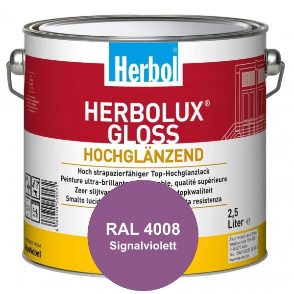 Herbolux Gloss (RAL 4008 Signalviolett) strapazierfähiger Top-Hochglanzlack (lösemittelhaltig) für i