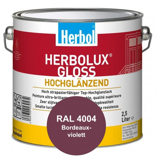 Herbolux Gloss (RAL 4004 Bordeauxviolett) strapazierfähiger Top-Hochglanzlack (lösemittelhaltig) für