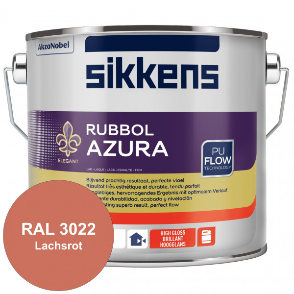 Rubbol Azura (RAL 3022 Lachsrot) hochglänzender Lack (löselmittelhaltig) innen & außen
