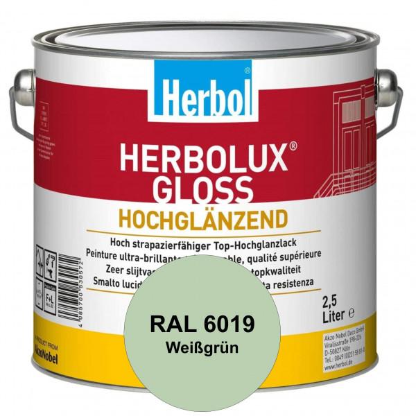 Herbolux Gloss (RAL 6019 Weißgrün) strapazierfähiger Top-Hochglanzlack (lösemittelhaltig) für innen