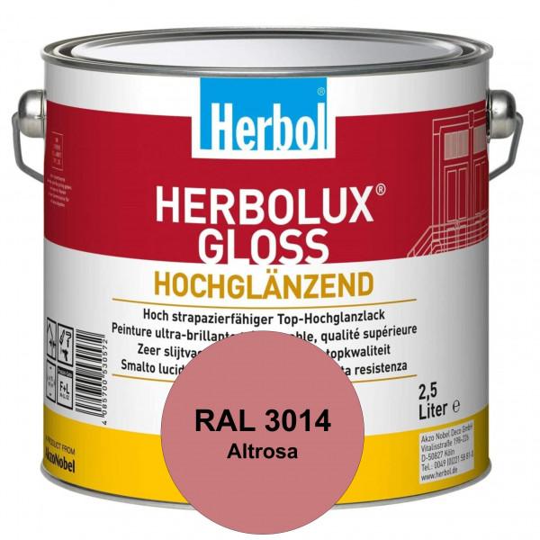 Herbolux Gloss (RAL 3014 Altrosa) strapazierfähiger Top-Hochglanzlack (lösemittelhaltig) für innen &