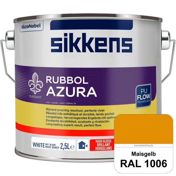 Rubbol Azura (RAL 1006 Maisgelb) hochglänzender Lack (löselmittelhaltig) innen & außen