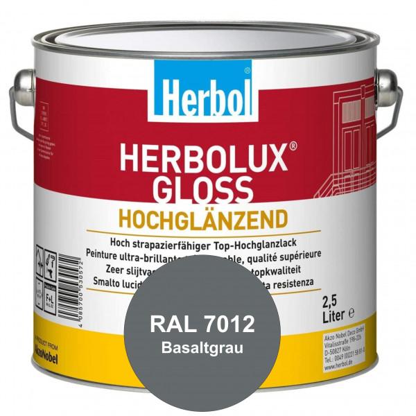 Herbolux Gloss (RAL 7012 Basaltgrau) strapazierfähiger Top-Hochglanzlack (lösemittelhaltig) für inne