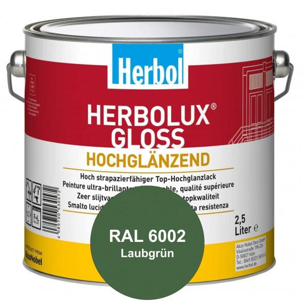 Herbolux Gloss (RAL 6002 Laubgrün) strapazierfähiger Top-Hochglanzlack (lösemittelhaltig) für innen