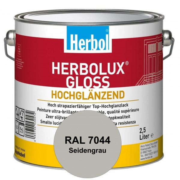 Herbolux Gloss (RAL 7044 Seidengrau) strapazierfähiger Top-Hochglanzlack (lösemittelhaltig) für inne