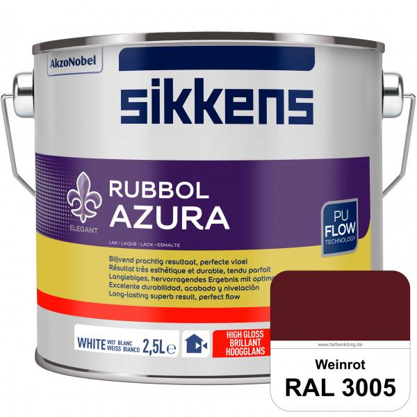 Rubbol Azura (RAL 3005 Weinrot) hochglänzender Lack (löselmittelhaltig) innen & außen