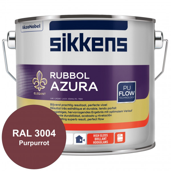 Rubbol Azura (RAL 3004 Purpurrot) hochglänzender Lack (löselmittelhaltig) innen & außen