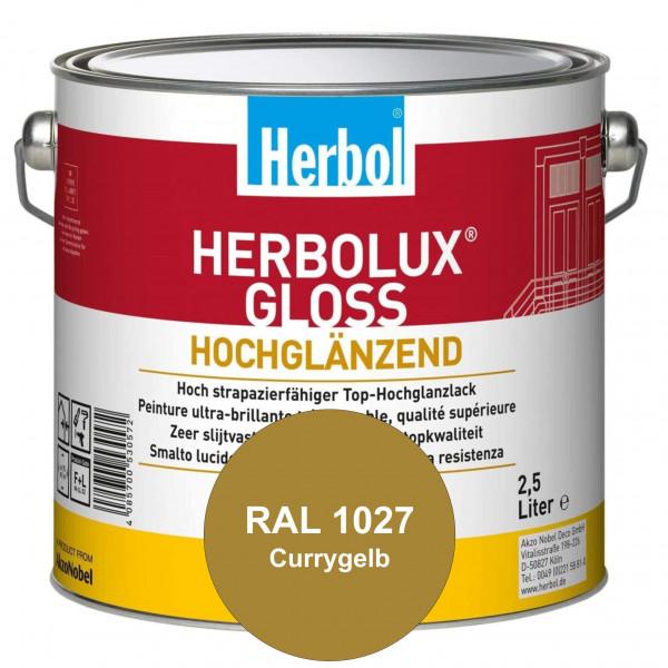 Herbolux Gloss (RAL 1027 Currygelb) strapazierfähiger Top-Hochglanzlack (lösemittelhaltig) für innen