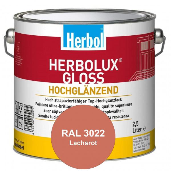 Herbolux Gloss (RAL 3022 Lachsrot) strapazierfähiger Top-Hochglanzlack (lösemittelhaltig) für innen