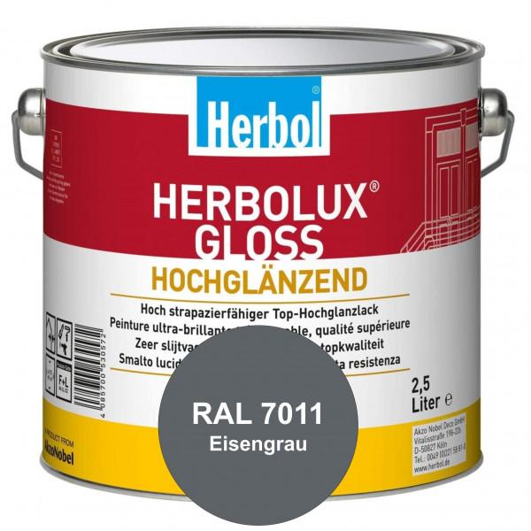 Herbolux Gloss (RAL 7011 Eisengrau) strapazierfähiger Top-Hochglanzlack (lösemittelhaltig) für innen